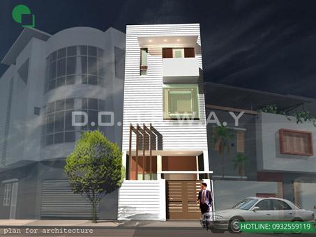 10+ mẫu thiết kế nhà ống đẹp 1 tầng, 2 tầng, 3 tầng năm 2018-2019 by kiến trúc Doorway 09