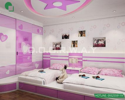 Tham khảo 5 mẫu thiết kế phòng ngủ cho bé đẹp mà an toàn by kiến trúc Doorway 01