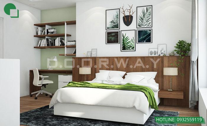 1-Trang trí nội thất phòng ngủ đơn giản hơn nhờ tranh cỏ cây