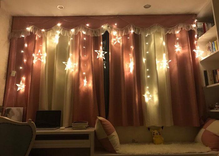 10-trang trí phòng ngủ dễ thương bằng đèn led