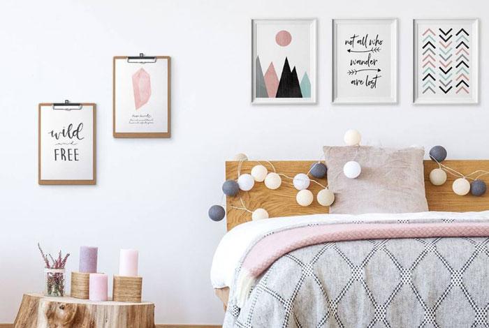 15-trang trí phòng ngủ giá bình dân từ đồ handmade