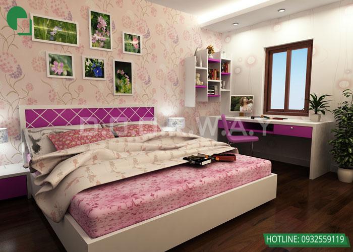 2-Trang trí nội thất phòng ngủ đơn giản hơn nhờ tranh cỏ cây