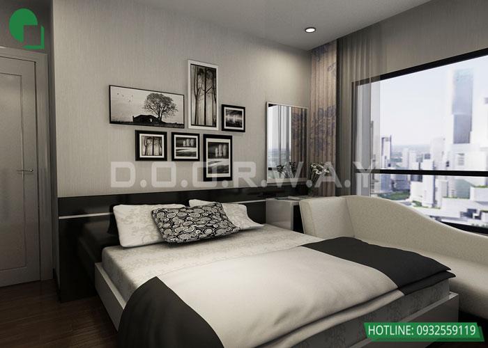 4-Trang trí nội thất phòng ngủ đơn giản hơn nhờ tranh cỏ cây