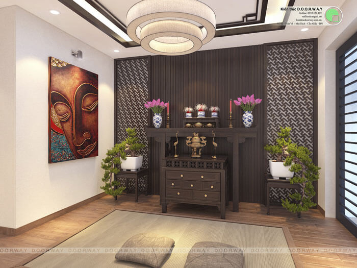 5-Các mẫu phòng thờ đẹp nhất cho chung cư, biệt thự, nhà ống 2019