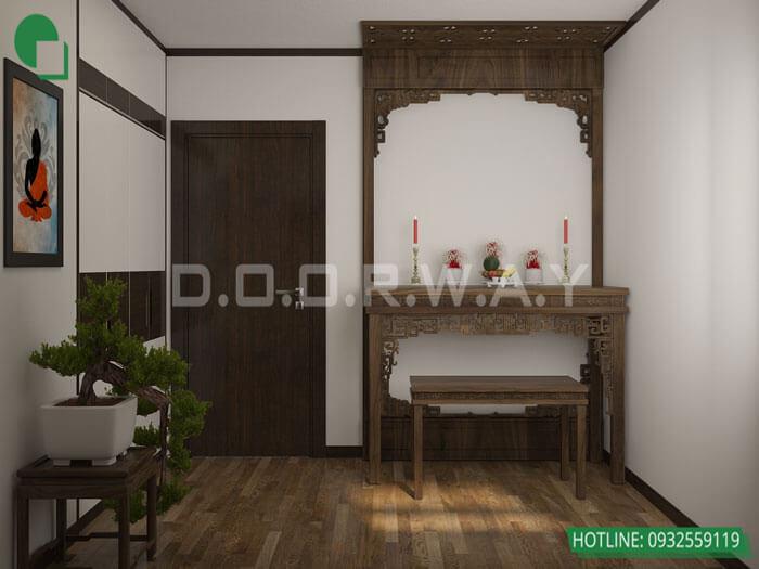 8-Các mẫu phòng thờ đẹp nhất cho chung cư, biệt thự, nhà ống 2019
