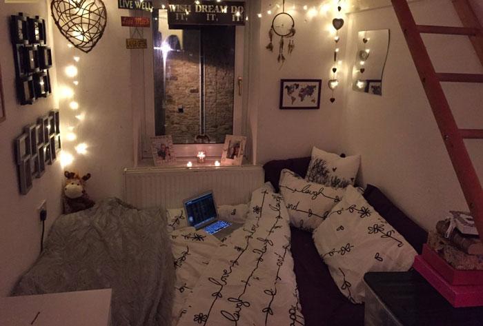 9-trang trí phòng ngủ dễ thương bằng đèn led