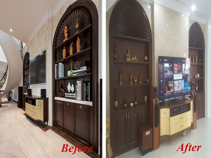 Thiết kế nội thất biệt thự tân cổ điển 180m2 tại Sơn La - mr Hồng by kiến trúc Doorway, so sánh before after 1