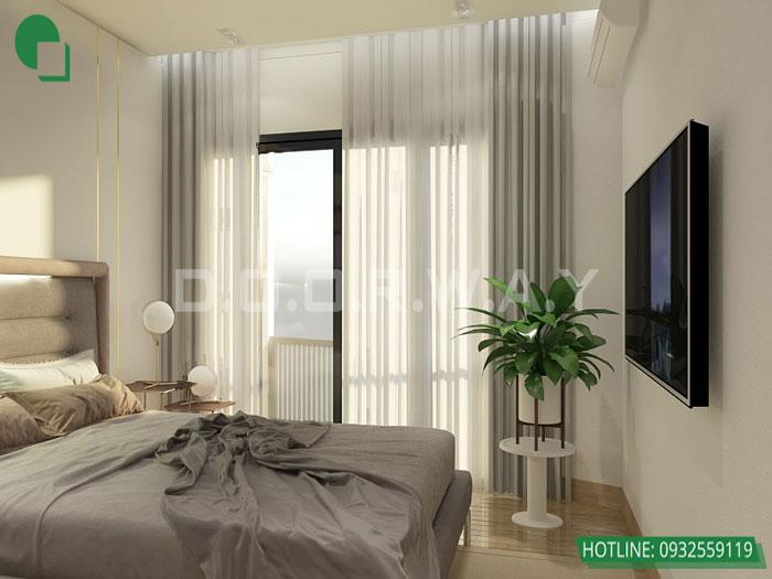 4-1 phòng ngủ, Mê mẩn trước vẻ đẹp của thiết kế nội thất căn hộ chung cư Mỹ Đình Pearl by kiến trúc Doorway