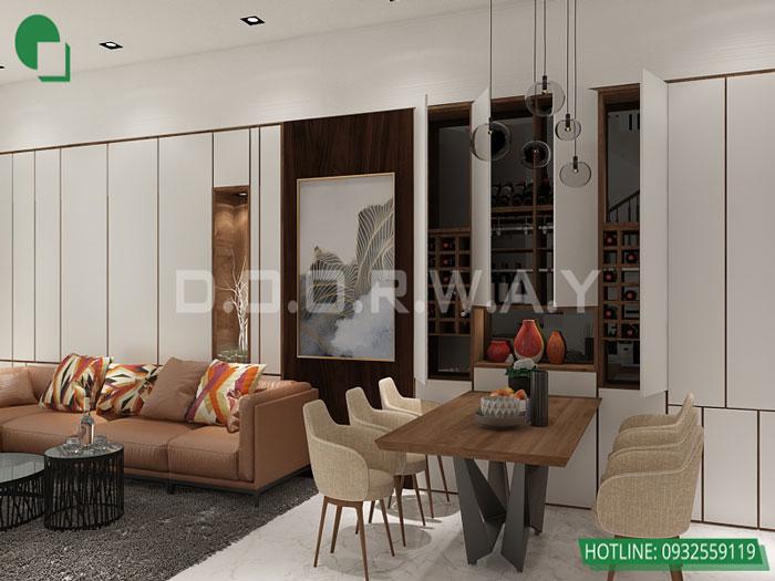 1-2 phòng ngủ, Mê mẩn trước vẻ đẹp của thiết kế nội thất căn hộ chung cư Mỹ Đình Pearl by kiến trúc Doorway