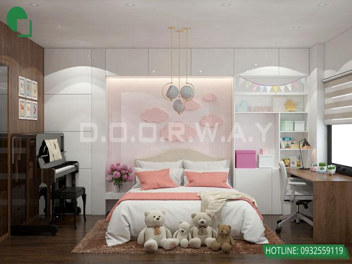 5-2 phòng ngủ, Mê mẩn trước vẻ đẹp của thiết kế nội thất căn hộ chung cư Mỹ Đình Pearl by kiến trúc Doorway