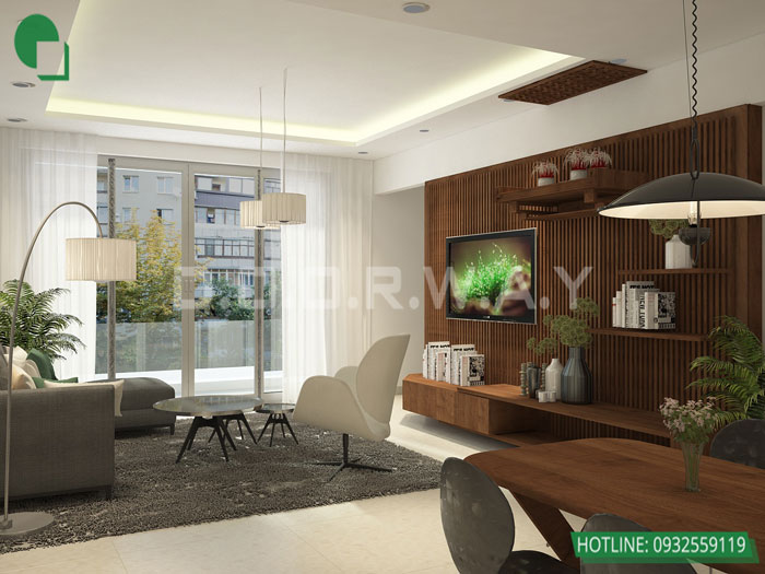 2-3PN- thiết kế căn hộ chung cư Mỹ Đình Pearl cho gia đình đa thế hệ | 3 - 4 phòng ngủ by kiến trúc Doorway