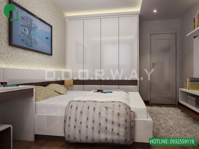 4-3PN- thiết kế căn hộ chung cư Mỹ Đình Pearl cho gia đình đa thế hệ | 3 - 4 phòng ngủ by kiến trúc Doorway