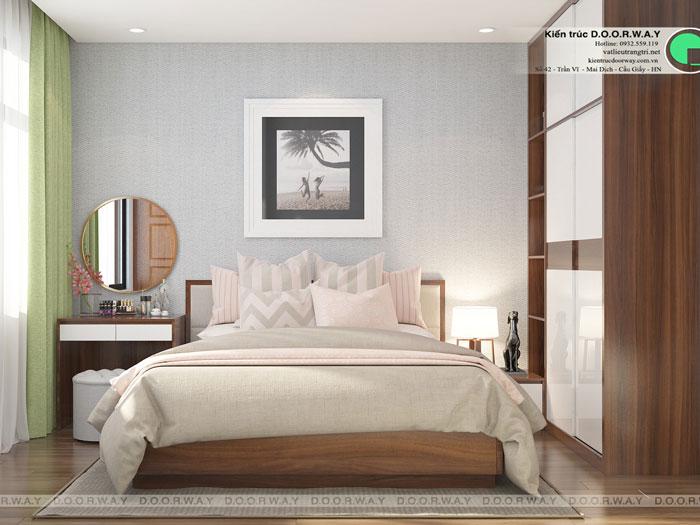 6-3PN- thiết kế căn hộ chung cư Mỹ Đình Pearl cho gia đình đa thế hệ | 3 - 4 phòng ngủ by kiến trúc Doorway