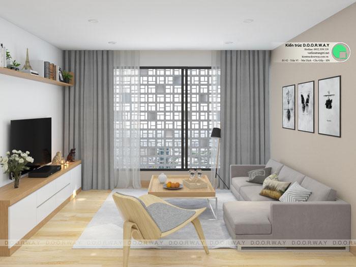 3-4PN- thiết kế căn hộ chung cư Mỹ Đình Pearl cho gia đình đa thế hệ | 3 - 4 phòng ngủ by kiến trúc Doorway