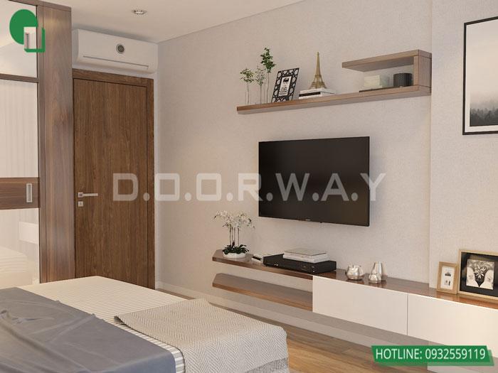 6-4PN- thiết kế căn hộ chung cư Mỹ Đình Pearl cho gia đình đa thế hệ | 3 - 4 phòng ngủ by kiến trúc Doorway