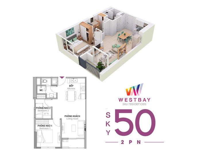 Top 10 mẫu thiết kế căn hộ chung cư 50m2 2 phòng ngủ đẹp nhất 2019 by kiến trúc Doorway, mẫu căn hộ chung cư 4