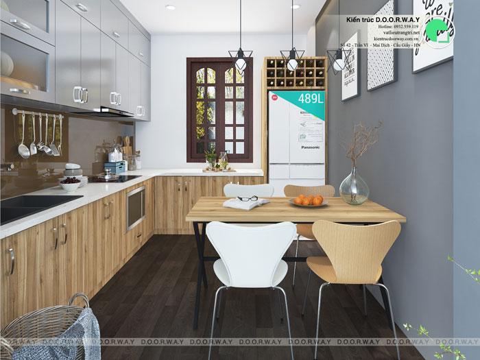 Top 10 mẫu thiết kế căn hộ chung cư 50m2 2 phòng ngủ đẹp nhất 2019 by kiến trúc Doorway, mẫu thiết kế nội thất phòng bếp