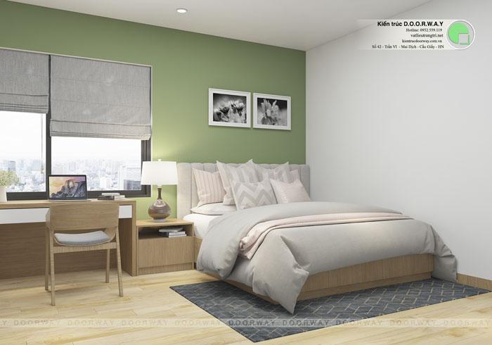 Top 10 mẫu thiết kế căn hộ chung cư 50m2 2 phòng ngủ đẹp nhất 2019 by kiến trúc Doorway, mẫu thiết kế nội thất phòng ngủ nhỏ