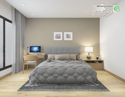 Thiết kế nội thất chung cư The Manor Central Park [Cập nhật 2019] by kiến trúc Doorway, thiết kế phòng ngủ căn hộ 1 phòng ngủ