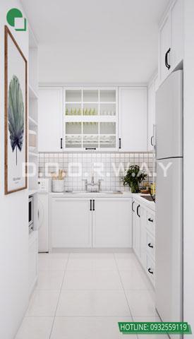 Thiết kế nội thất chung cư The Manor Central Park [Cập nhật 2019] by kiến trúc Doorway, thiết kế phòng bếp căn hộ 3 phòng ngủ