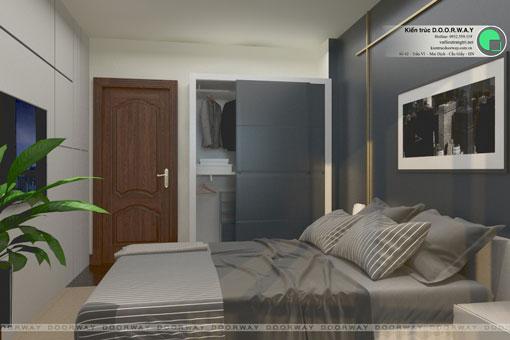 Thiết kế nội thất chung cư The Manor Central Park [Cập nhật 2019] by kiến trúc Doorway, thiết kế phòng ngủ 02 căn hộ 3 phòng ngủ