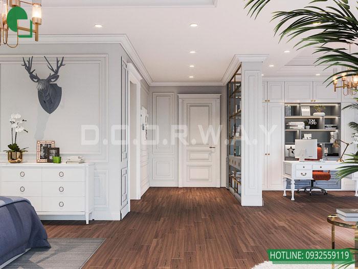 Thiết kế nội thất biệt thự tân cổ điển 180m2 tại Sơn La - mr Hồng by kiến trúc Doorway, thiết kế nội thất phòng ngủ con trai góc 02