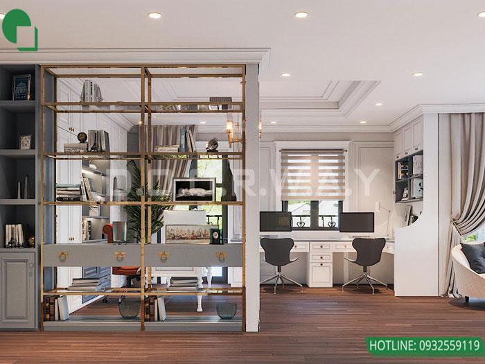 Thiết kế nội thất biệt thự tân cổ điển 180m2 tại Sơn La - mr Hồng by kiến trúc Doorway, thiết kế nội thất phòng ngủ con trai góc 03