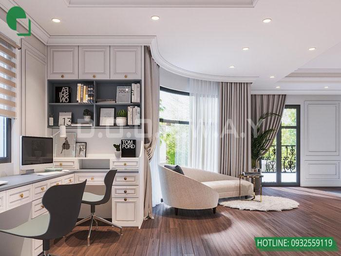 Thiết kế nội thất biệt thự tân cổ điển 180m2 tại Sơn La - mr Hồng by kiến trúc Doorway, thiết kế nội thất phòng ngủ con trai góc 04