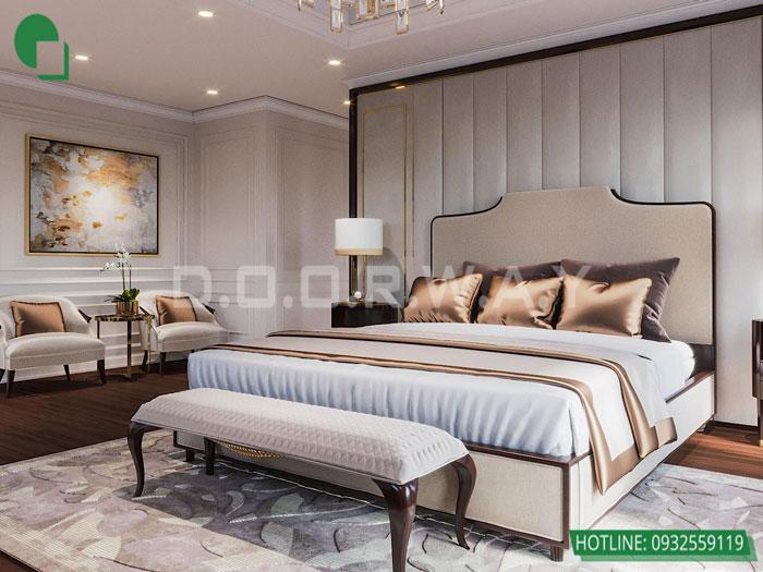 Thiết kế nội thất biệt thự tân cổ điển 180m2 tại Sơn La - mr Hồng by kiến trúc Doorway, thiết kế nội thất phòng ngủ master 01