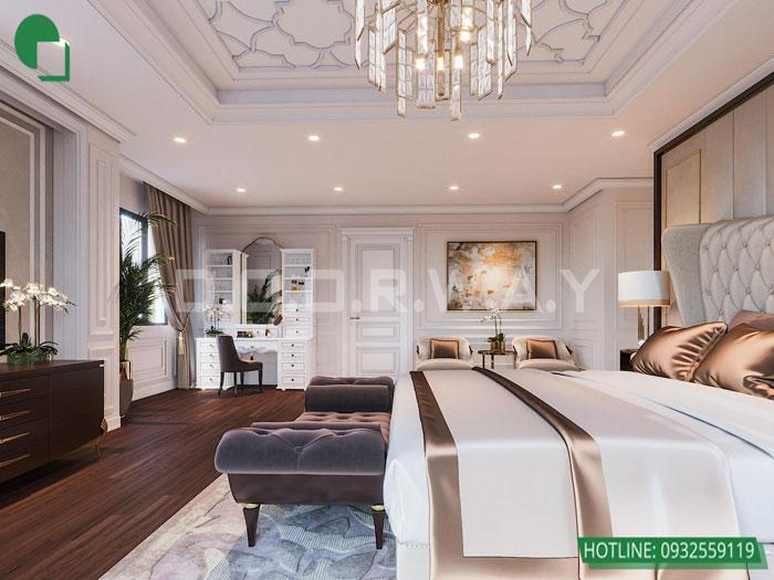 Thiết kế nội thất biệt thự tân cổ điển 180m2 tại Sơn La - mr Hồng by kiến trúc Doorway, thiết kế nội thất phòng ngủ master 02