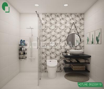 Thiết kế nội thất chung cư Bea Sky Nguyễn Xiển - căn hộ 2 phòng ngủ by kiến trúc Doorway, thiết kế nội thất wc 1