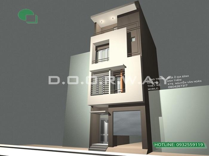 1- Mẫu thiết kế nhà phố 6x8m với không gian hiện đại, thoáng mát từ Doorway