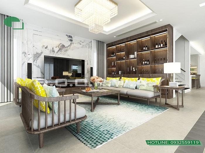 1 - Mẫu thiết kế nội thất biệt thự liền kề hiện đại với ý tưởng độc đáo