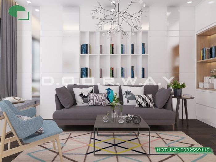 1 - Dịch vụ tư vấn thiết kế nội thất phòng khách 20m2 thoáng mát