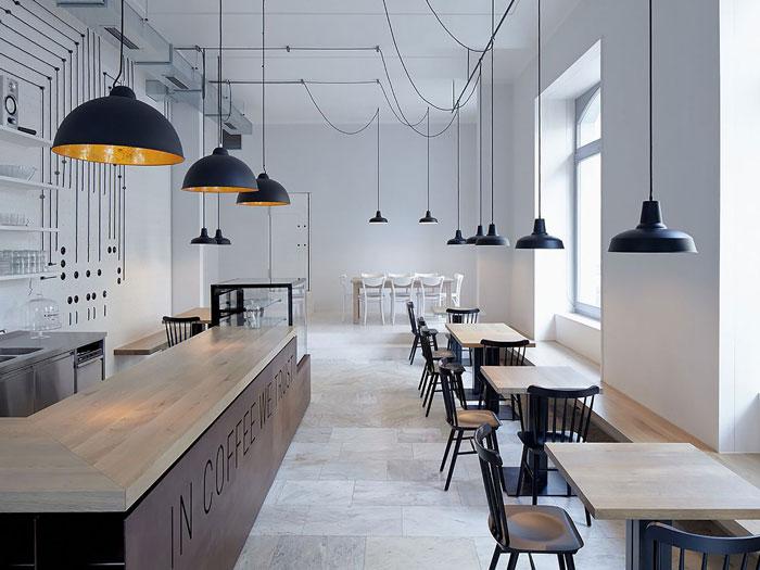 11- Mách bạn cách thiết kế quán cafe đẹp ngang 4m siêu đơn giản
