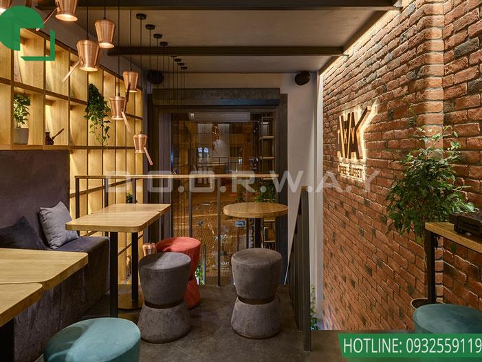 14- Mách bạn cách thiết kế quán cafe đẹp ngang 4m siêu đơn giản