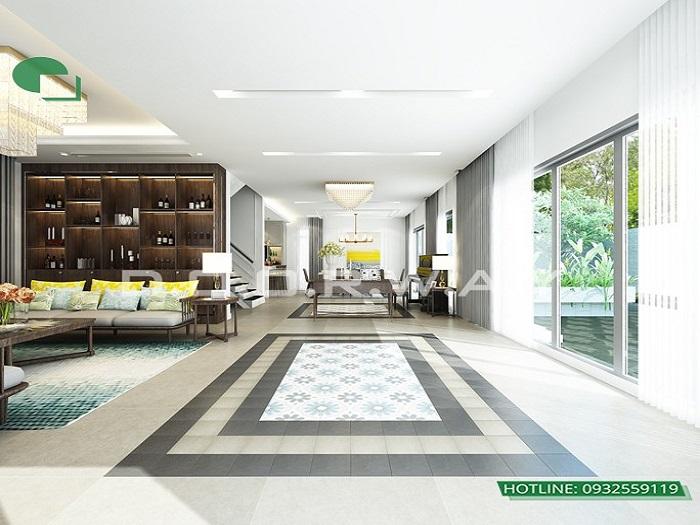 2 - Mẫu thiết kế nội thất biệt thự liền kề hiện đại với ý tưởng độc đáo