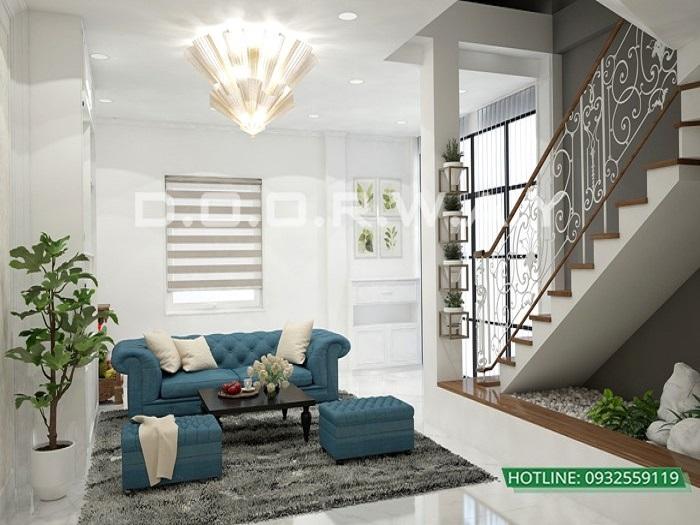 2 - Dịch vụ tư vấn thiết kế nội thất phòng khách 20m2 thoáng mát
