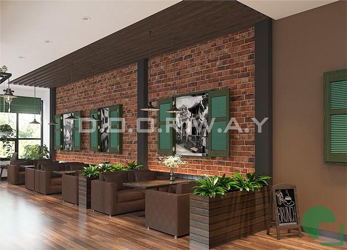 2- Mẫu thiết kế quán cafe 60m2 nhẹ nhàng và tinh tế giữ chân khách hàng