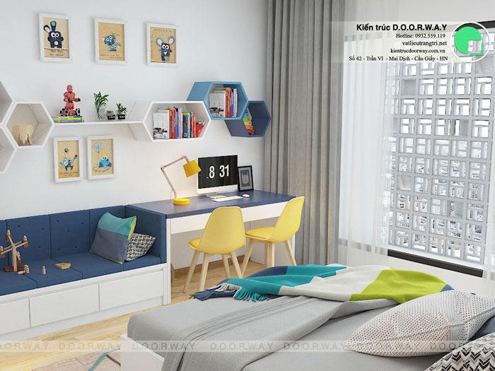 3PN-93m2-PN3-2-Xem thiết kế nội thất chung cư The K Park Văn Phú - K1, K2, K3