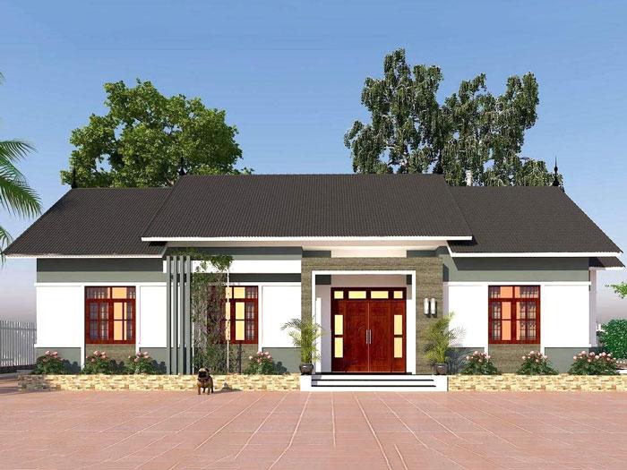 8 - những mẫu nhà ba gian đẹp mang đậm phong cách kiến trúc nhà Việt by kiến trúc Doorway