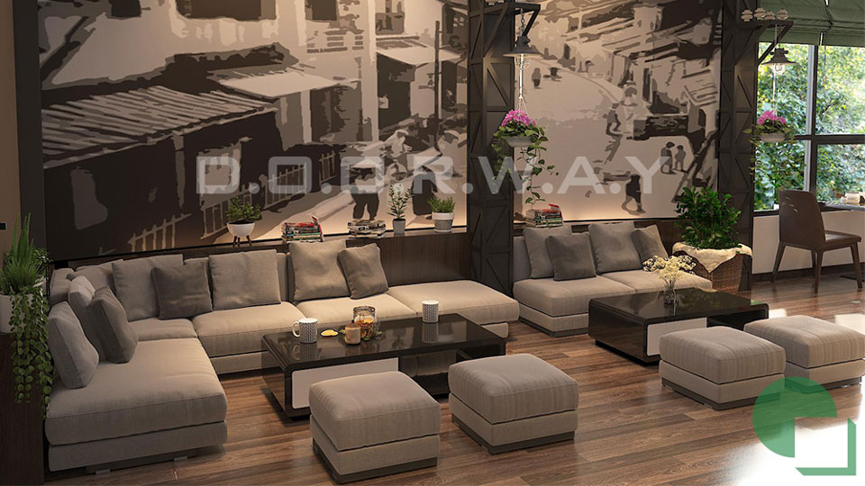 Ảnh tiêu biểu- Thiết kế quán cafe 60m2 nhẹ nhàng và tinh tế giữ chân khách hàng
