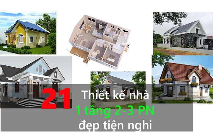 Ảnh tiêu biểu 2 - Những gợi ý thiết kế nhà 1 tầng 80m2 với 2 - 3 phòng ngủ đẹp mà tiện nghi