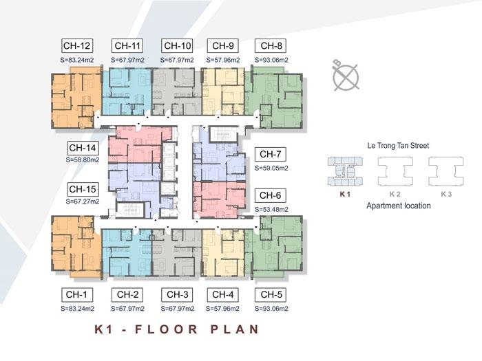 Mat-bang-toa-K1-Xem thiết kế nội thất chung cư The K Park Văn Phú - K1, K2, K3