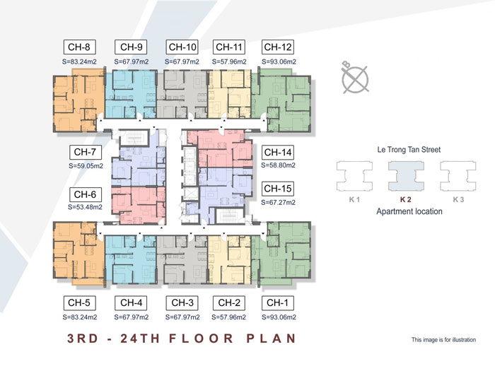 Mat-bang-toa-K2-Xem thiết kế nội thất chung cư The K Park Văn Phú - K1, K2, K3