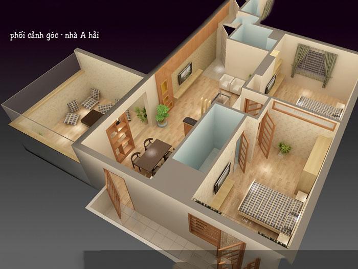 Mặt bằng- Đừng bỏ qua 25 thiết kế nội thất chung cư 110m2 hiện đại mà đẹp này