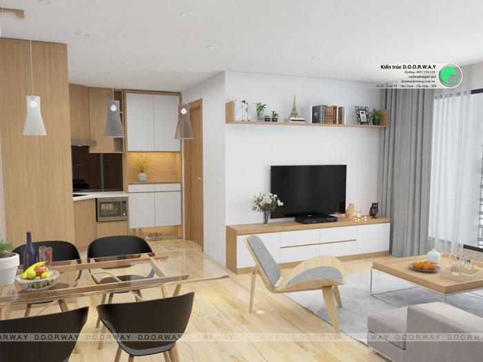 Phòng khách mẫu 1 - Những gợi ý thiết kế nhà 1 tầng 80m2 với 2 - 3 phòng ngủ đẹp mà tiện nghi