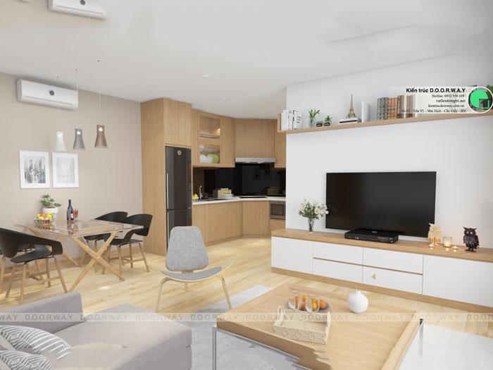 Phòng khách mẫu 2 - Những gợi ý thiết kế nhà 1 tầng 80m2 với 2 - 3 phòng ngủ đẹp mà tiện nghi