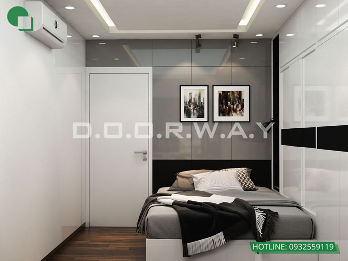 Phòng ngủ 2 góc 1 - Những gợi ý thiết kế nhà 1 tầng 80m2 với 2 - 3 phòng ngủ đẹp mà tiện nghi