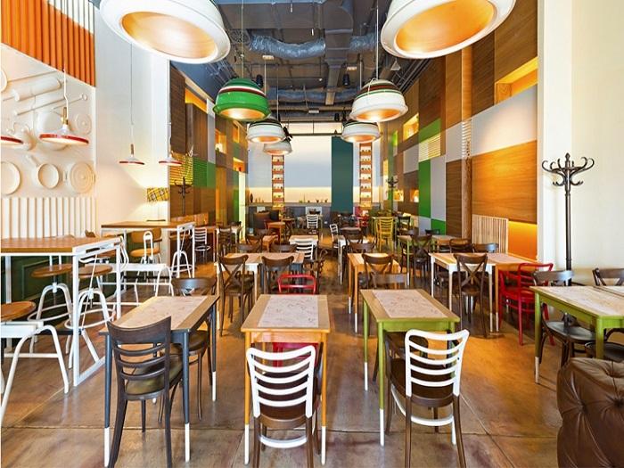 2- Xu hướng thiết kế nhà hàng ăn nhanh hiện đại thu hút khách hàng
